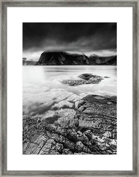Stormy Lofoten Framed Print