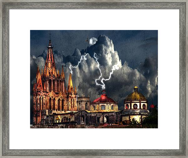 Stormy Night Framed Print