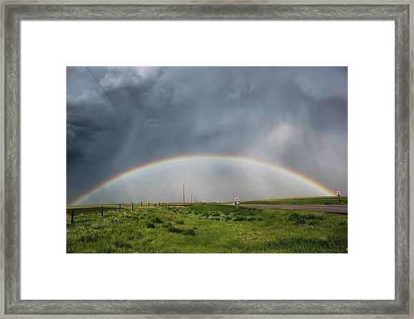 Stormy Rainbow Framed Print