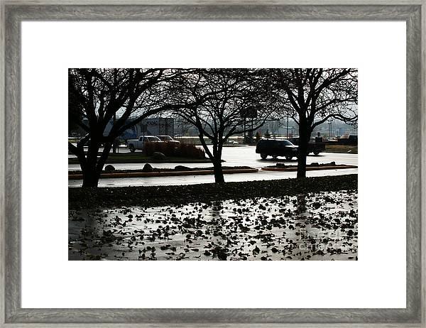 Stormy Reflection Framed Print