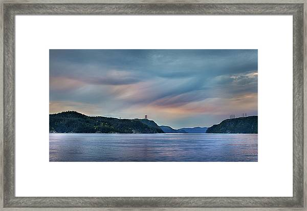 Stormy Saguenay Sunset Framed Print