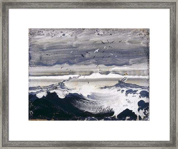 Framed Print featuring the painting Stormy Sea by Peder Balke