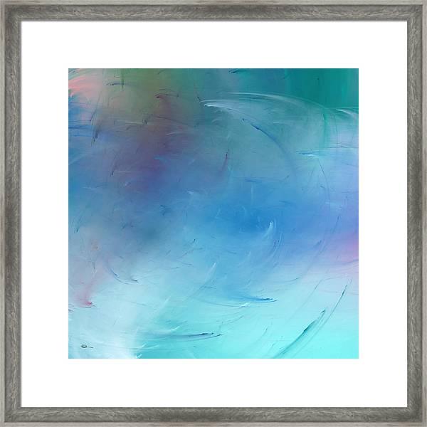 Stormy Seas Aqua Framed Print