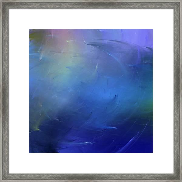 Stormy Seas Indigo Framed Print