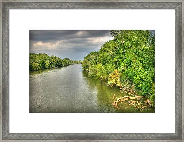 Stormy Skies Over The Coosa River Framed Print