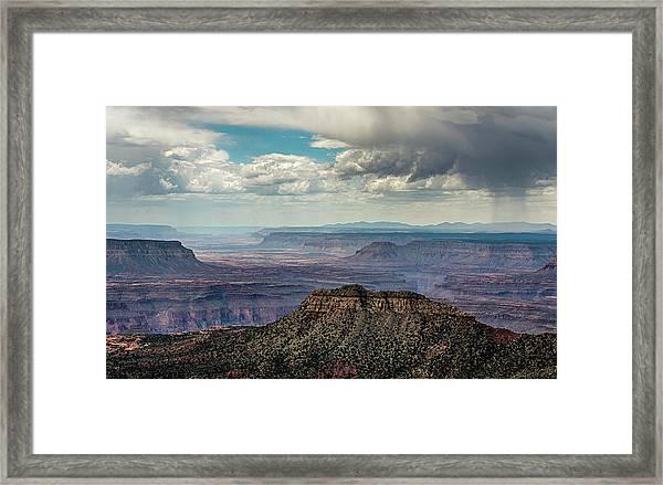 Stormy Sky Past Bridgers Knoll Framed Print