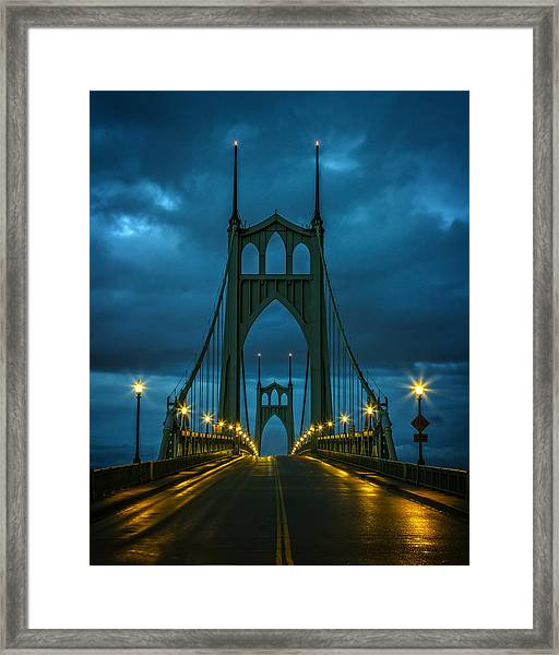 Stormy St. Johns Framed Print