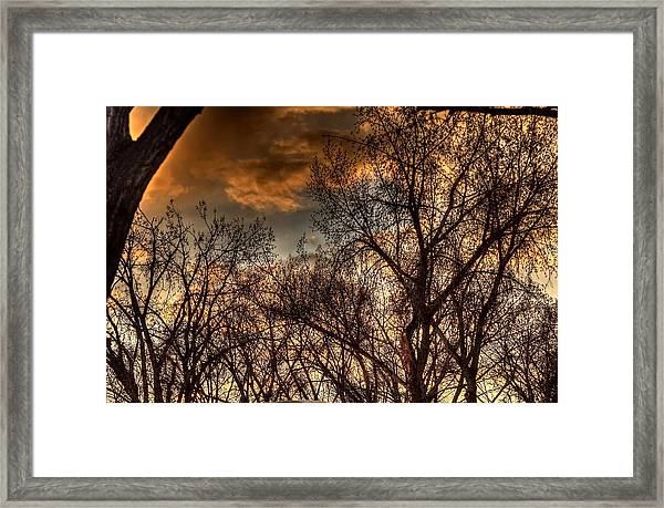 Stormy Sunset 14151 Framed Print