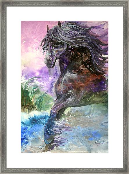 Stormy Wind Horse Framed Print