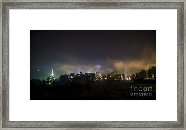 Stowe Vermont After Dark. Framed Print