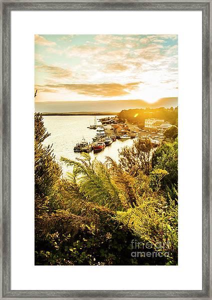 Strahan Sunset Framed Print