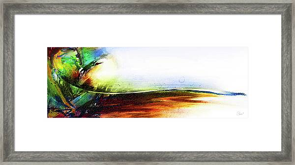 Framed Print featuring the mixed media Straight Paths by Shevon Johnson