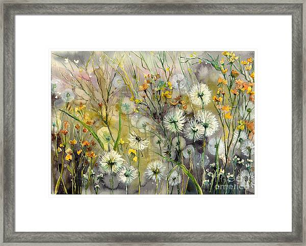 Straight To The Hills Framed Print