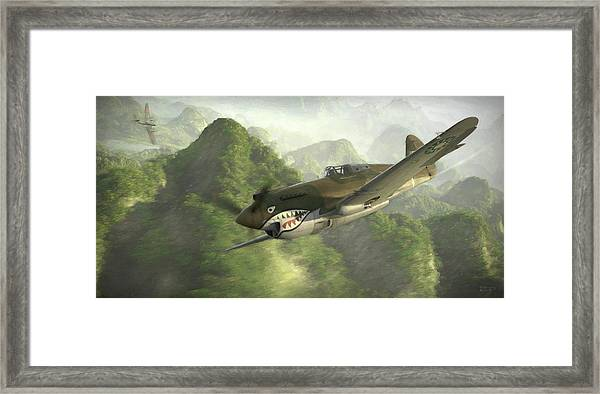 Strangely Elusive - Painterly Framed Print by Robert Perry