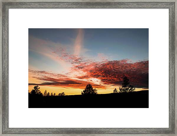 Framed Print featuring the photograph Stratocumulus Sunset by Jason Coward
