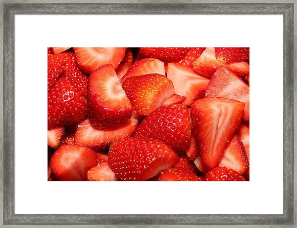 Strawberries 32 Framed Print