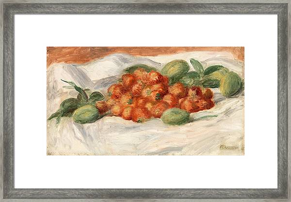 Strawberries And Almonds Framed Print