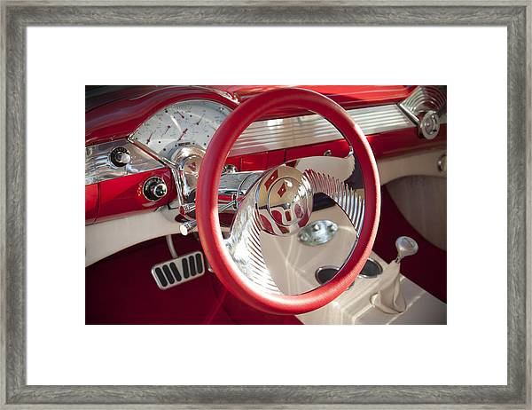 Strawberries And Creme Framed Print