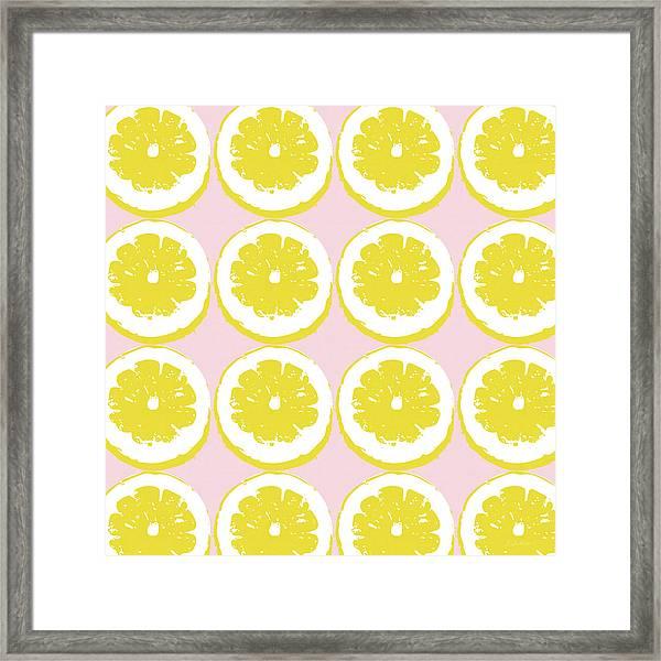 Strawberry Lemonade- Art By Linda Woods Framed Print