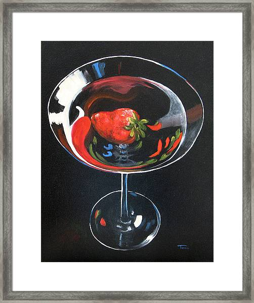 Strawberry Martini Framed Print