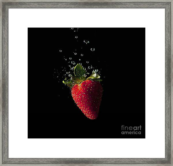Strawberry Splash Framed Print