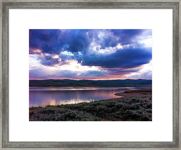 Strawberry Sunset Framed Print