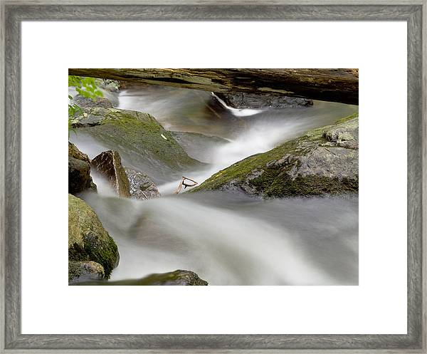 Stream In Motion Framed Print