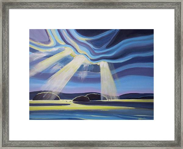 Streaming Light  Framed Print