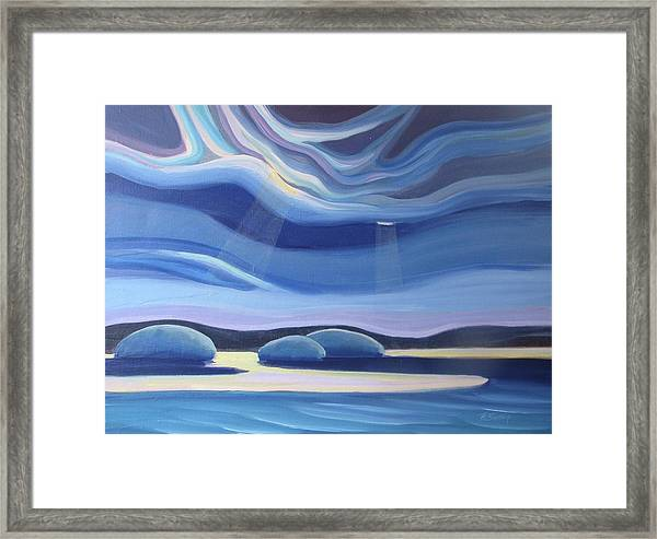 Streaming Light II Framed Print