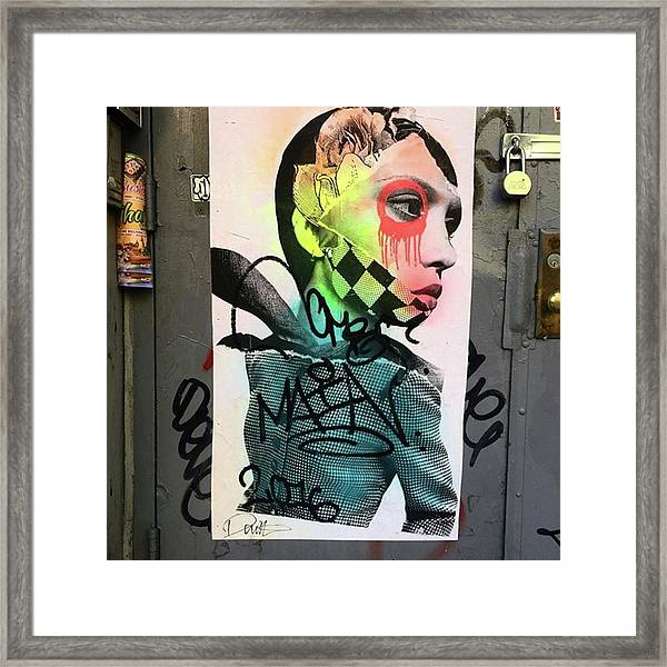 Street Art On West Broadway. #tribeca Framed Print by Gina Callaghan