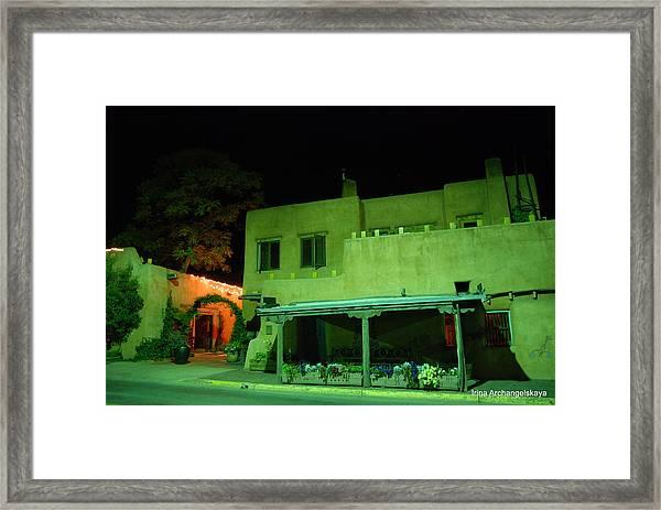 Street Building In Santa Fe Framed Print