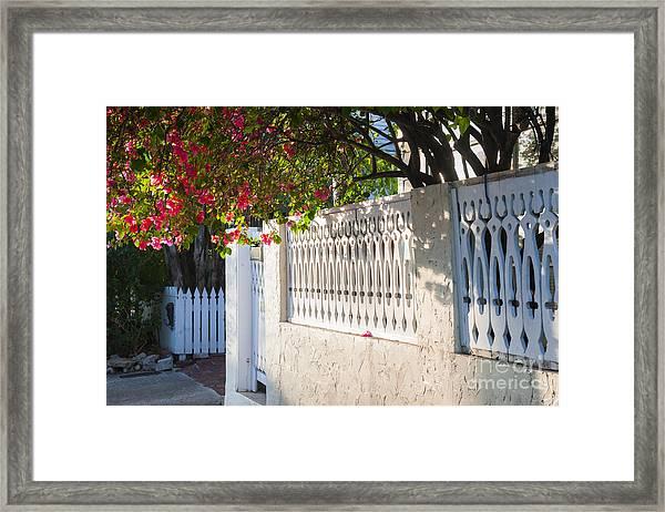 Street In Key West Framed Print