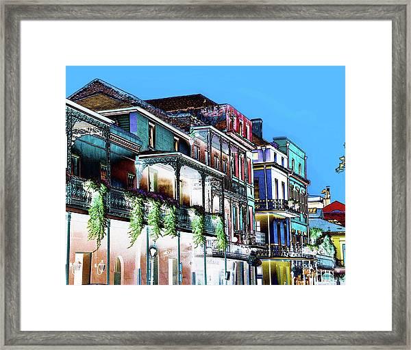 Street In New Orleans Framed Print