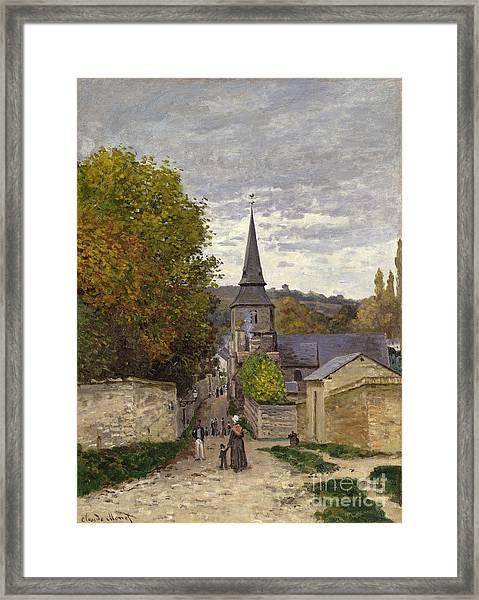 Street In Sainte Adresse Framed Print