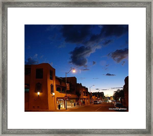 Street In Santa Fe Framed Print