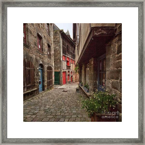 Street Of Dinan Framed Print