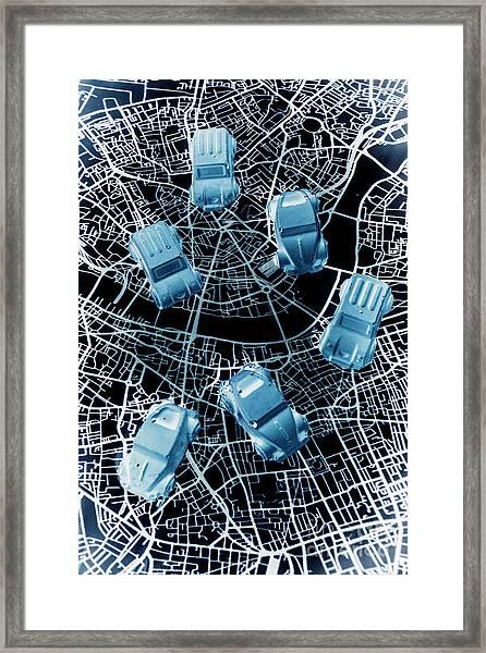 Street Racers Gps Framed Print