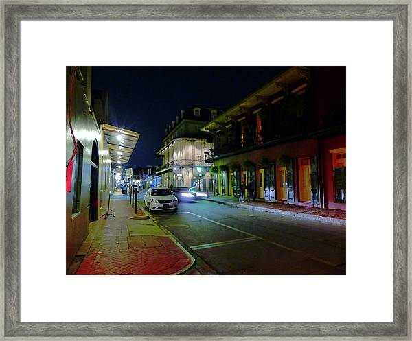 French Quarter Street Scene Framed Print