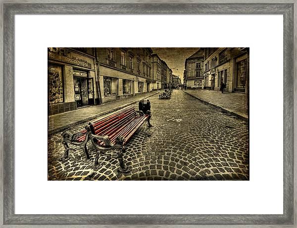 Street Seat Framed Print