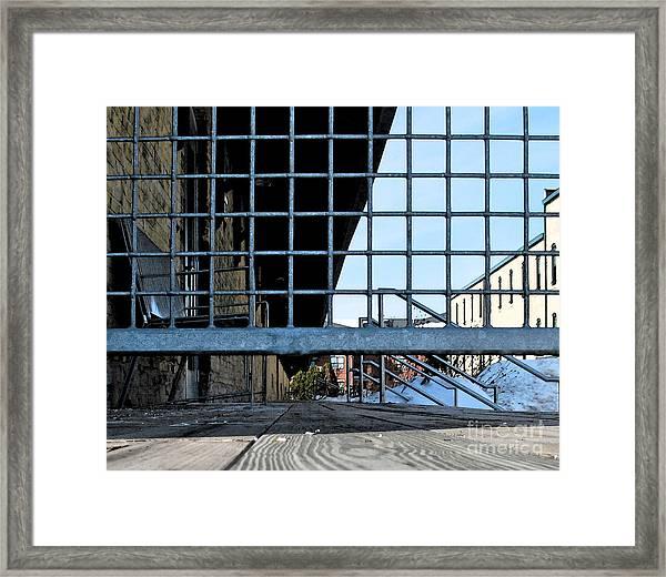 Streetscape 3 Housing Framed Print