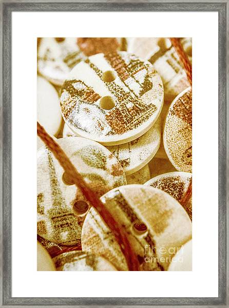 String Of Buttons Framed Print