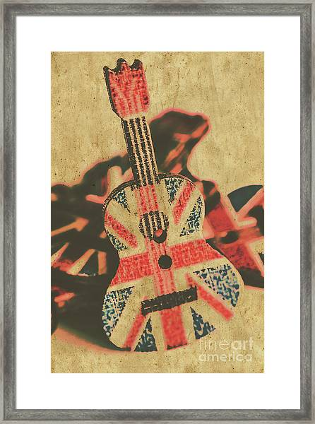 Stringed In Great Britain Framed Print