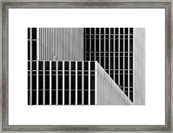 Stripes And Windows Framed Print