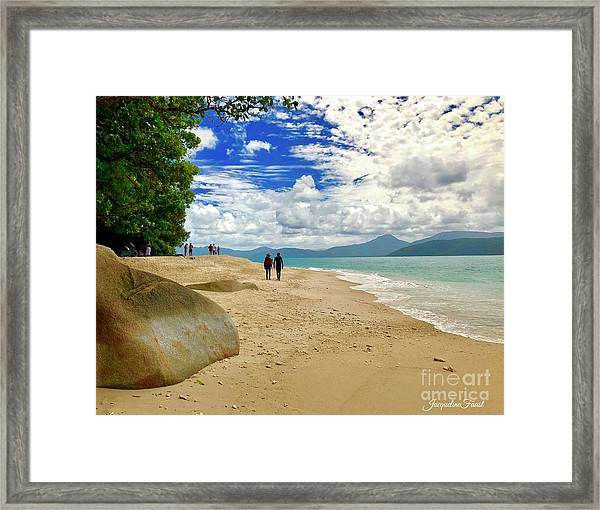 Stroll Down Under Framed Print