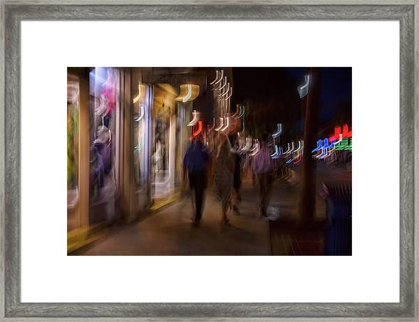 Strolling Duval Framed Print