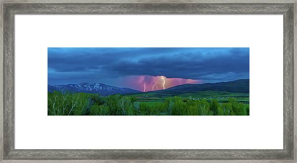 Storm Peak  Framed Print