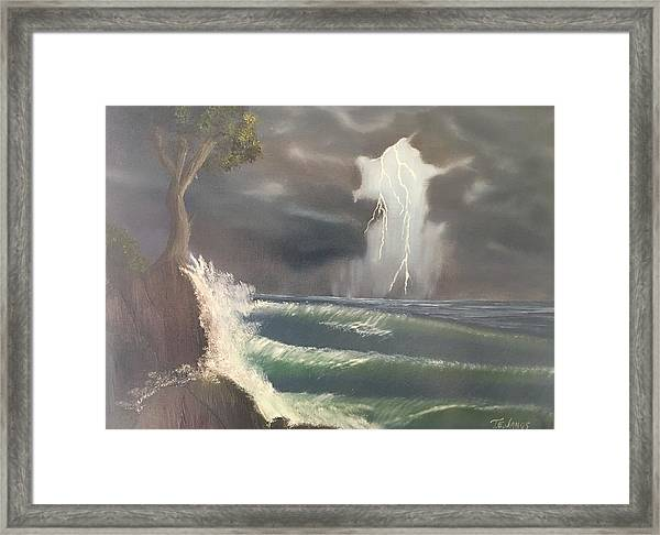 Strong Against The Storm Framed Print