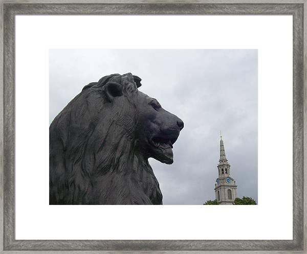 Strong Lion Framed Print