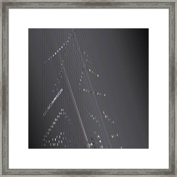 Strung Art Framed Print