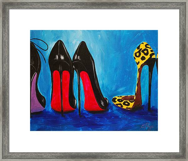 Strut Your Stuff Framed Print